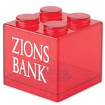 Custom Imprinted Building Block Savings Banks