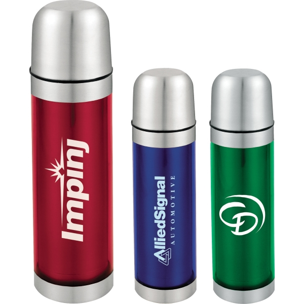 1 Day Service Vacuum Bottle and Travel Mug Gift Sets, Custom Decorated With Your Logo!