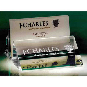 Custom printed business card holder crystal gifts business card holder crystal gifts custom printed with your logo colourmoves