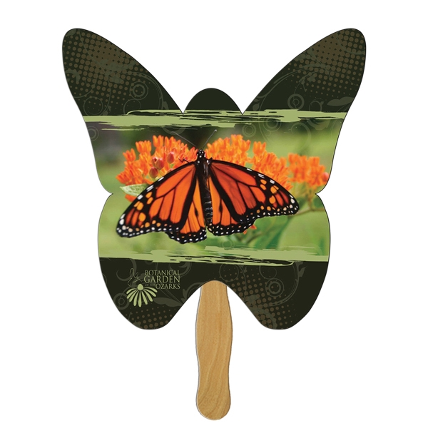 Custom Printed Butterfly Stock Shaped Paper Fans