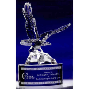 Byrds In Flight High End Crystal Awards, Custom Imprinted With Your Logo!