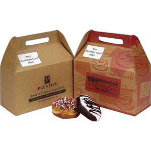 Custom Printed Cafe Natural Design Donut Boxes