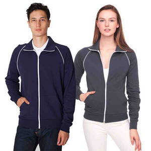 Custom Printed American Apparel California Fleece Track Jackets For Women