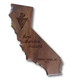 Custom Printed California State Shaped Plaques