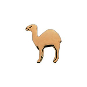 Custom Printed Camel Shaped Pins