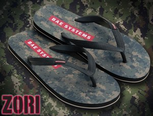 Custom Imprinted Camouflage Flip Flop Sandals