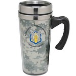 Custom Imprinted Camouflage Travel Mugs