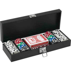 Custom Printed Canadian Manufactured 100 Chip Poker Sets