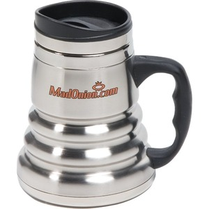 Custom Printed Canadian Manufactured 14oz. Black Chrome Tri Roll Mugs