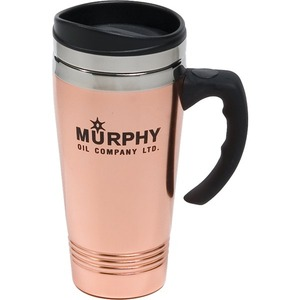 Custom Printed Canadian Manufactured 14oz. Copper And Stainless Steel Travel Mugs