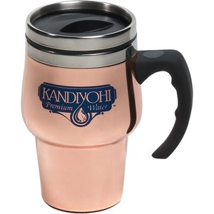 Custom Printed Canadian Manufactured 14oz. Copper Roaster Travel Mugs