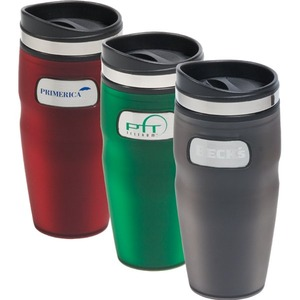 Custom Printed Canadian Manufactured 16oz. Plastic Travel Mugs