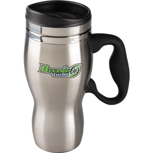 Custom Printed Canadian Manufactured 16oz. Sphere Stainless Steel Travel Mugs