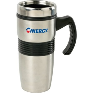 Custom Printed Canadian Manufactured 16oz. Stainless Steel And Plastic Travel Mugs
