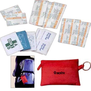 Custom Printed Canadian Manufactured 22 Piece Keyring First Aid Kits