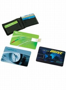 Canadian Manufactured 256MB Four Color Process Flash Drive Cards, Custom Decorated With Your Logo!