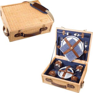 Custom Printed Canadian Manufactured Bamboo Picnic Caddies