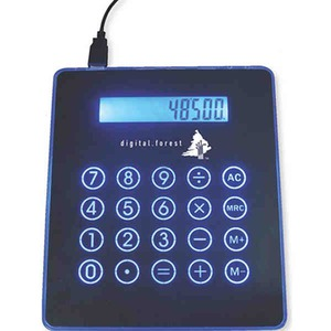 Custom Printed Canadian Manufactured Blue Light Mousepads With Calculators And Hubs