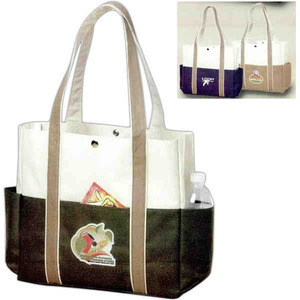 Custom Printed Canadian Manufactured Contrast Boat Tote Bags