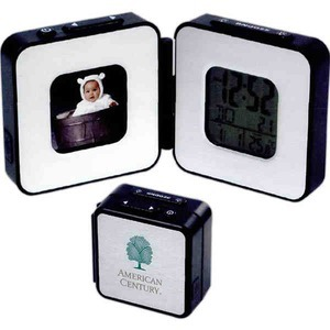 Custom Printed Canadian Manufactured Digital Frame Travel Alarm Clocks