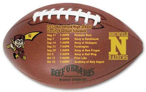 Custom Printed Canadian Manufactured Football Sport Schedule Magnets