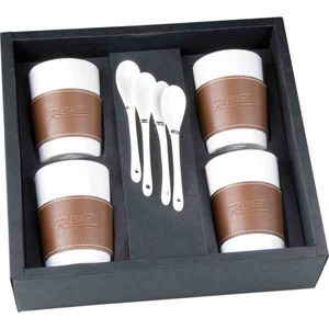 Canadian Manufactured Java Sets For Four, Custom Imprinted With Your Logo!