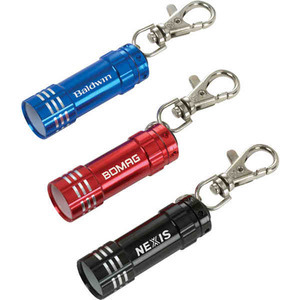 Custom Printed Canadian Manufactured LED Keychain Flashlights