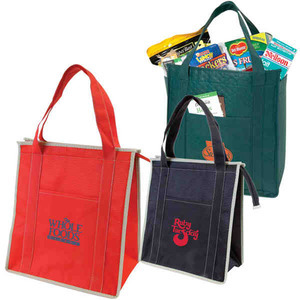 Custom Printed Canadian Manufactured Non Woven Insulated Zipper Totes
