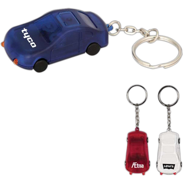 Custom Printed Car Shaped Keychain Flashlights