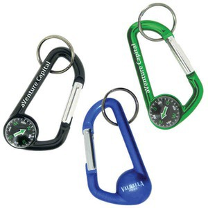 Custom Printed Carabiners with Compasses