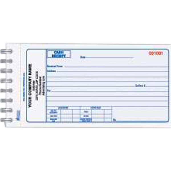 Custom Printed Three Part Cash Receipt Books