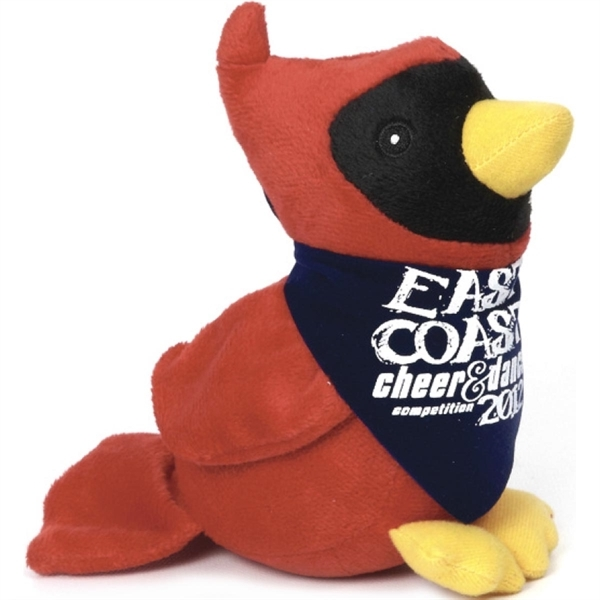Cardinal Bird Stuffed Toys, Personalized With Your Logo!