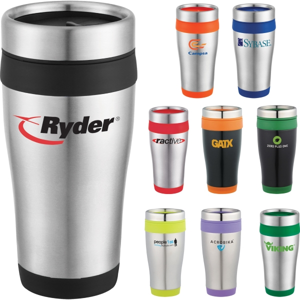 Custom Printed 1 Day Service Insulated Travel Tumblers