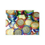 Custom Printed Casino Chip Shaped Chocolates