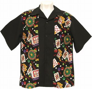 Custom Printed Casino 50s Party Bowling Shirts