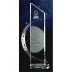 Custom Printed Stainless Crystal Awards