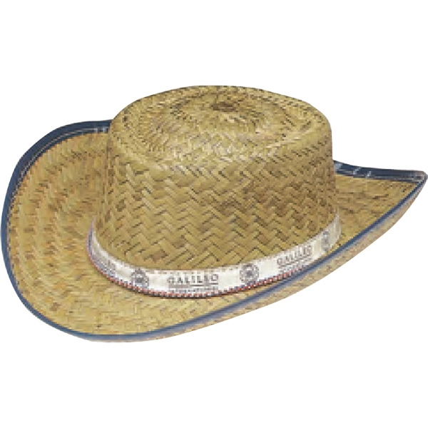 Custom Printed Straw Child Size Cowboy Hats