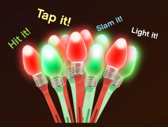 Christmas Light Bulb Pens, Custom Imprinted With Your Logo!