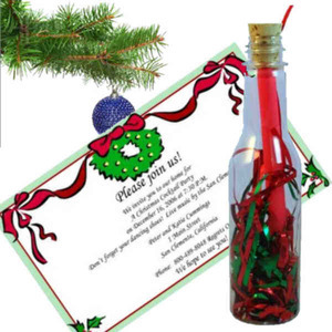 Christmas Message in a Bottles, Custom Imprinted With Your Logo!