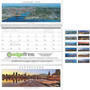 Custom Printed Cityscapes Panoramic Executive Calendars