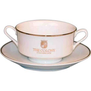 Classic Rim Cream Soup Bowls, Personalized With Your Logo!