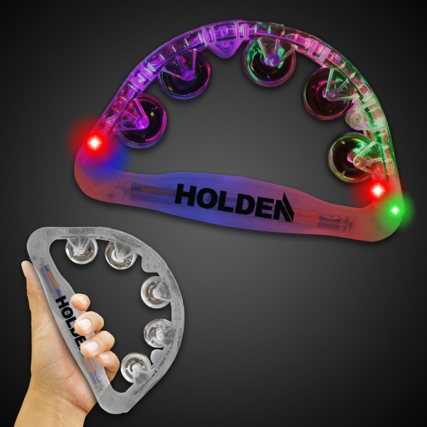 Custom Printed Clear Light Up Tambourines