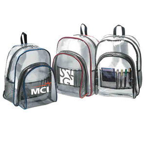 Clear Vinyl Backpacks, Personalized With Your Logo!