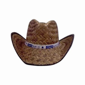Custom Printed Cocoa Straw Cowboy Hats