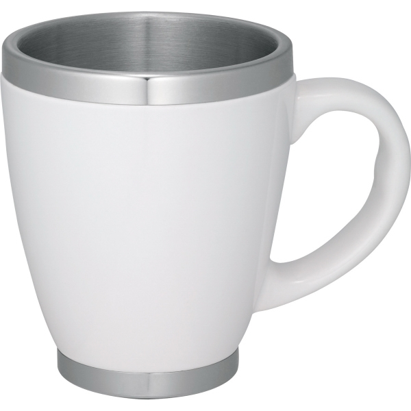 1 Day Service 14oz. Double Wall Constructed Coffee Mugs, Custom Made With Your Logo!