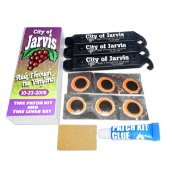 Bicycle Tire Tube Patch Kits, Custom Printed With Your Logo!
