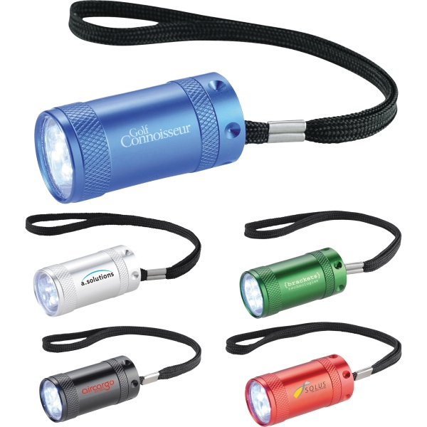 1 Day Service 3 White LED Flashlights, Custom Designed With Your Logo!