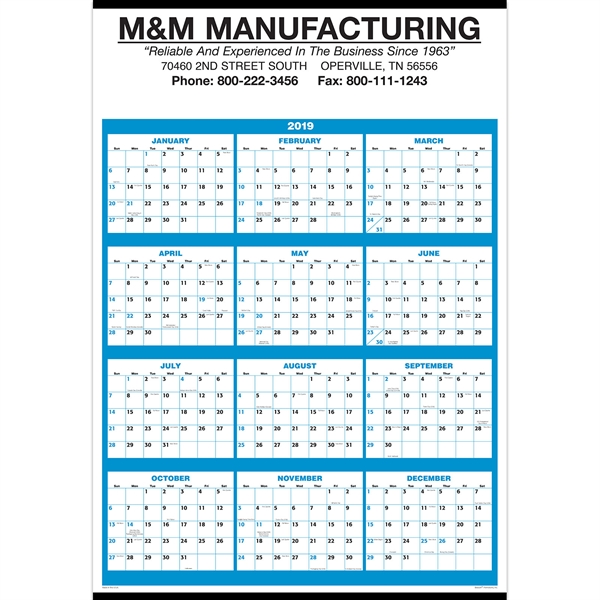 12 Month Custom Calendars, Customized With Your Logo!