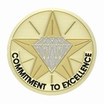 Custom Engraved Commitment to Excellence Emblems and Seals
