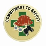Custom Engraved Commitment to Safety Emblems and Seals